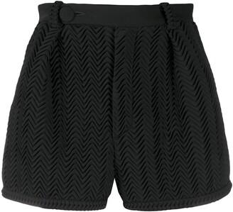 Marco De Vincenzo Zigzag Pattern Shorts