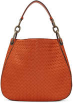 Bottega Veneta Orange Small Intrecciato Hobo Bag