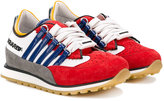 DSQUARED2 colour block trainers - kids - Leather/rubber - 28