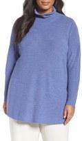 Eileen Fisher Fine Rib Merino Turtleneck Tunic (Plus Size)
