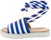 Clover Canyon Stripe Lace-Up Sandals w/ Tags