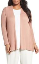 Eileen Fisher Plus Size Women's Ribbed Silk & Organic Cotton Cardigan