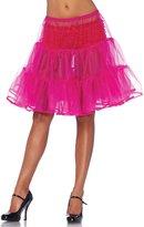 Leg Avenue A196522072 Shimmer Organza Knee Length Petticoat Skirt,