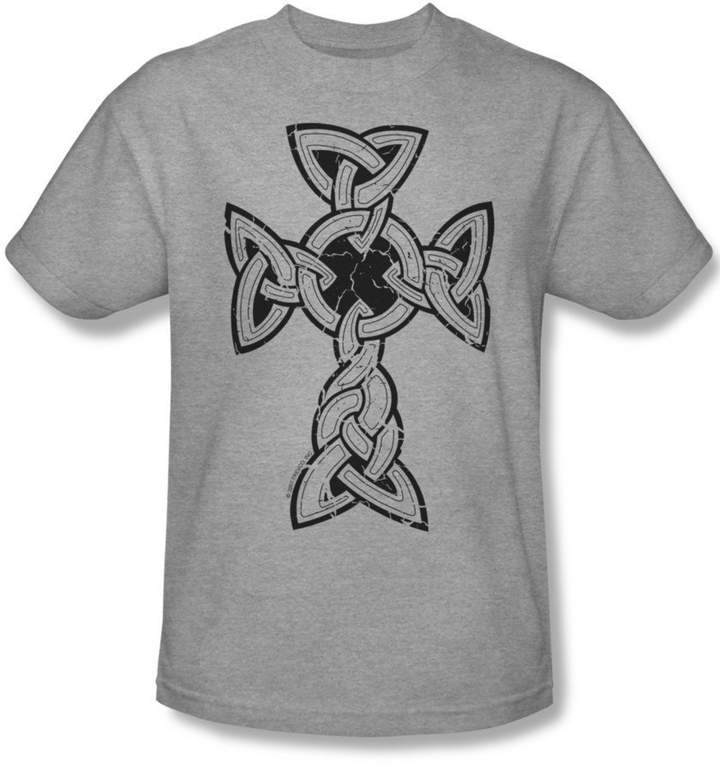Celtic Funny Tees Knotted Cross - Mens T-Shirt In
