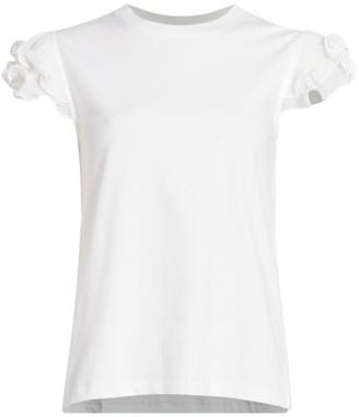 See by Chloe Pleated Ruffle T-Shirt