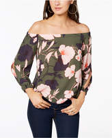 Delicieux Bar III Floral Print Off The Shoulder Top, Created For Macyu0027s