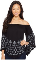 Karen Kane Printed Off the Shoulder Top Women's Clothing