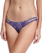 Ale By Alessandra Henna Blues Strappy-Side Reversible Swim Bottom, Blue Pattern
