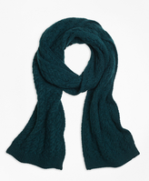 Brooks Brothers Cable Knit Scarf