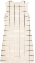 Valentino Checked Crepe Mini Dress - Ivory