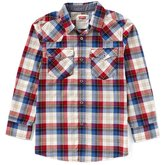 Levi's Levis Big Boys 8-20 Barstow Plaid Western Shirt
