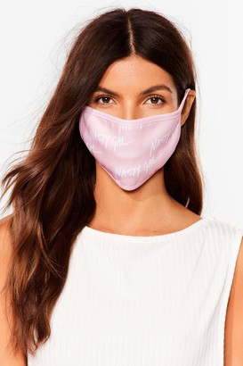 Nasty Gal Womens Nothing But a Fashion Face Mask - Pink - One Size
