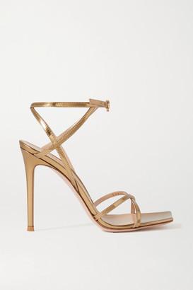 Gianvito Rossi Georgina 105 Metallic Leather Sandals - Gold