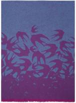 McQ Blue & Purple Swallow Dégradé Scarf