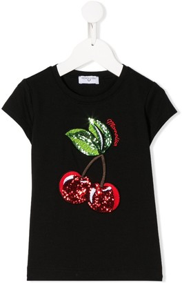MonnaLisa cherry embellished T-shirt