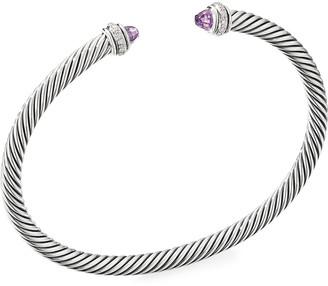 David Yurman Cable Bracelet w/ Diamonds & Gemstones, Size S-L