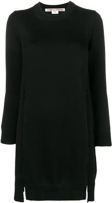 Comme des Garcons side slit knitted dress