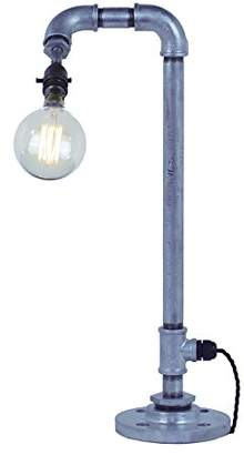 Pipe Art DS0019 Desk Lamp, Lacquered Galvanised Silver, B22d