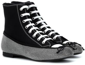 Marco De Vincenzo Embellished ballet flat sneakers