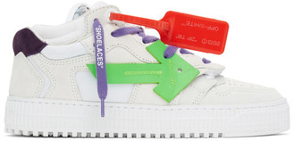 Off-White White and Purple Off Court 3.0 Sneakers