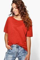 Boohoo Nadine Premium Nep Fabric Oversized T-Shirt