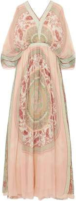 Chloé Printed Silk-crepon Maxi Dress
