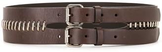 Fendi Pre Owned Metal Loops Double-Buckled Belt