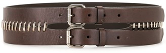 Fendi Pre-Owned Metal Loops Double-Buckled Belt