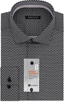Van Heusen Men's Chrome Slim Fit Print Spread Collar Dress Shirt