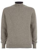Stefano Ricci Waffle Knit Half Zip Sweater