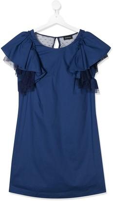 MonnaLisa TEEN frilled sleeved dress