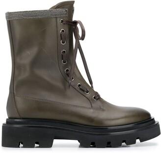 Fabiana Filippi Lace-Up Combat Boots