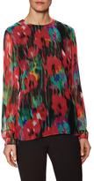 Jason Wu Blurred Floral Silk Chiffon Top