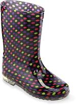 Jelly Beans Purple Dot Rain Boot