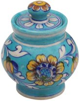 SouvNear SS-SN-190803064252 Multipurpose Sky Blue Pot with Lid in Ceramic