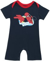 Superman Spider-Man Webbed Wonder Marvel Comics Baby Romper Snapsuit