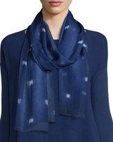 Eileen Fisher Shibori Butterfly Silk Scarf