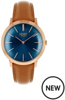 Henry London Henry London Rose Gold Iconic Gents Brown Strap Watch