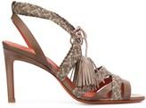 Santoni woven high-heeled sandals