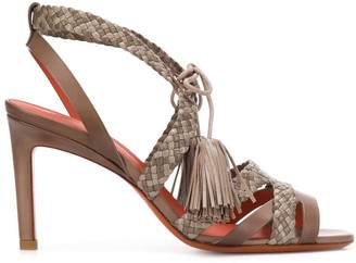 Santoni Woven High-Heeled Sandals
