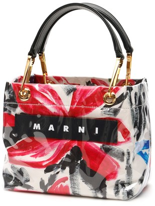 Marni Alma Print Glossy Grip Tote Bag