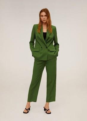 MANGO Double-breasted blazer green - 1 - Women