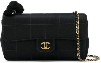 Chanel Pre Owned 2010 2.55 Choco Bar quilted crossbody bag