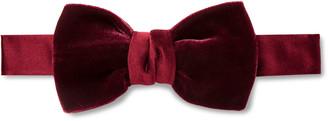 Lanvin Pre-Tied Silk Satin-Trimmed Velvet Bow Tie