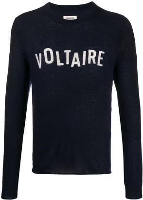 Zadig & Voltaire Kennedy cashmere logo pullover