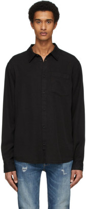 Nudie Jeans Black Smooth Twill Chuck Shirt