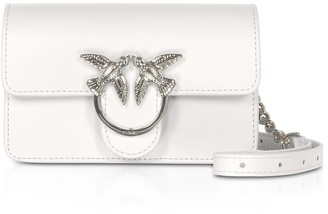 Pinko White Love Baby Simply Shoulder/belt Bag