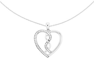 """Sentimental Expressions Sterling 18"""" """"Hearts Joined"""" Necklace"""