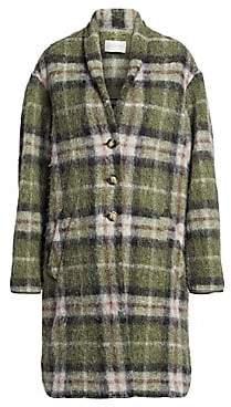 Etoile Isabel Marant Women's Gabriel Wool-Blend Plaid Blanket Coat