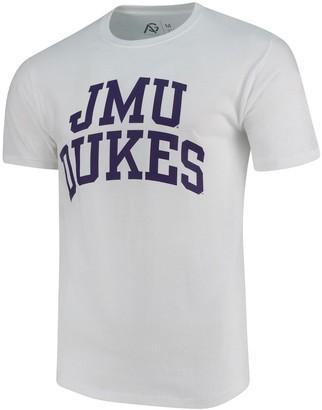 Gracia Unbranded Men's Alta Fair Trade) White James Madison Dukes Arched Wordmark T-Shirt